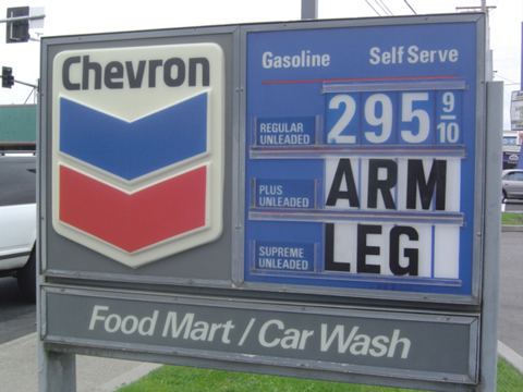 Cost of Petrol: An Arm and a Leg